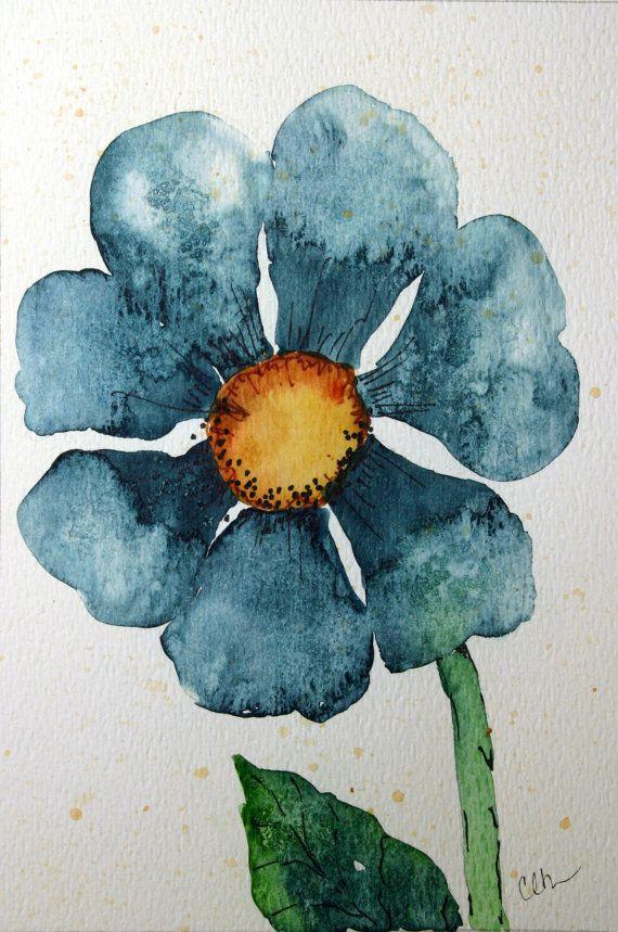 Watercolor art original watercolor art hand by ArtworksEclectic, 25.00