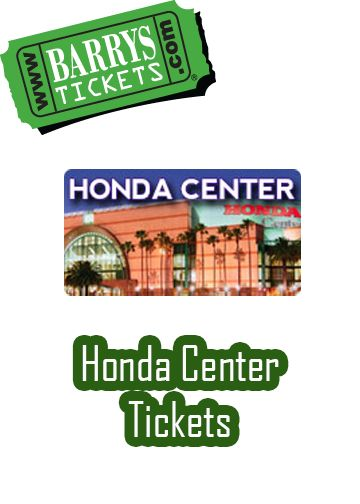 Honda Center Concert and Sporting Event Tickets available with No Service Fees on any ticket! Barry's Tickets is located minutes from the Honda Center itself and offers a 100% guarantee that tickets are authentic and will be delivered on time.