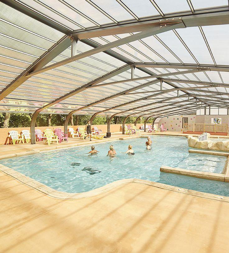 La piscine du camping des Albères réalisée il y moins d'un an. #abripiscinerideaupro