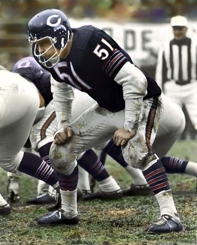 Dick Butkus - my best choice for defense - 9 NFL, 1,020 tackles, 489 assists, 22 int, 27 fumble recoveries