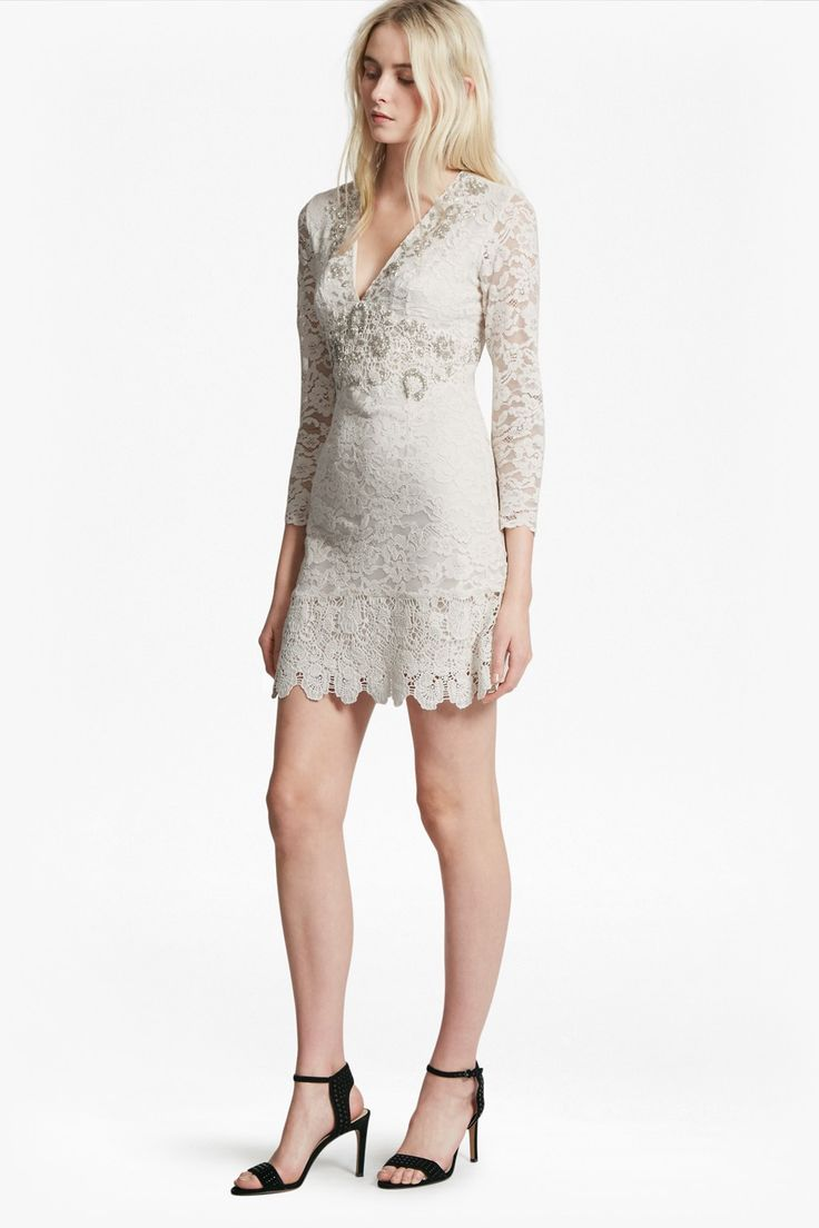 Buy your French Connection Emmie Lace Embellished Dress online now at House  of Fraser. Why not Buy and Collect in-store?