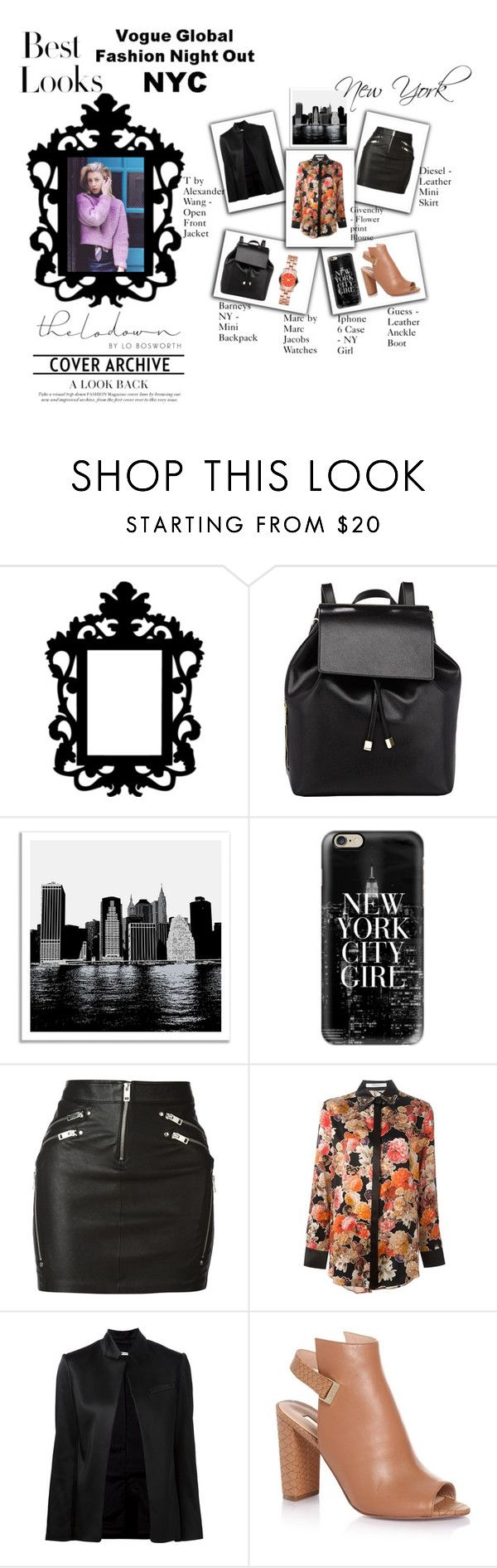 New York Leather on the Streets by iris234 on Polyvore featuring Givenchy, T By Alexander Wang, Diesel, Barneys New York, Marc by Marc Jacobs, Casetify, Universal Lighting and Decor, MML, contestentry and thelodown