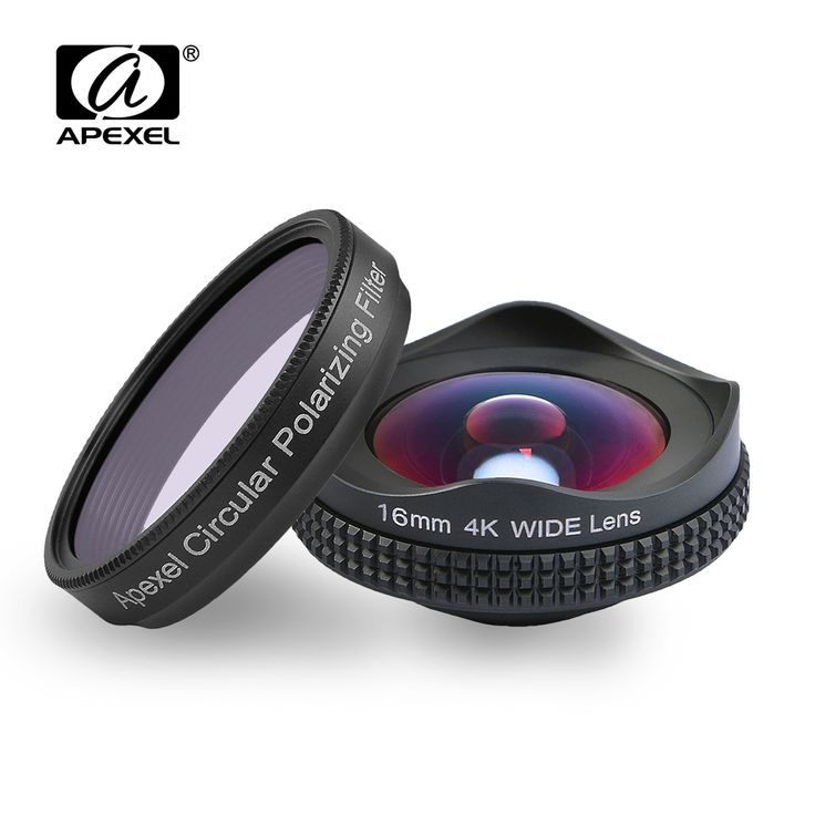 APEXELProfessional 4K Wide lens circular polarizing Filter 16mm HD super wide angle lens for iPhone 6s plus 7 HTC more phone //Price: $28.11//     #storecharger