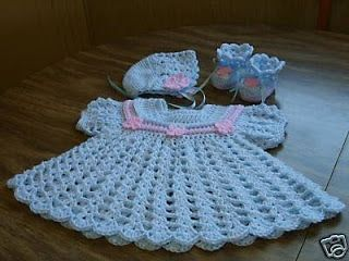 Mary Helen and crochet trico Crafts: bebe crochet dress