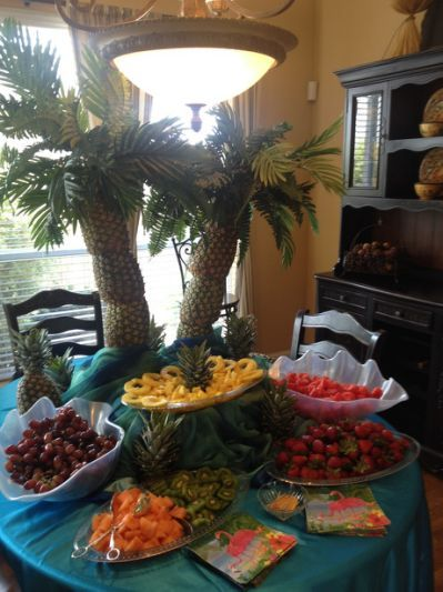 Palm Tree Centerpiece for Fruit
