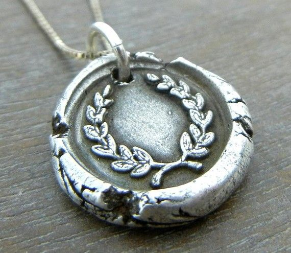 Wax Seal Necklace  LAUREL Wax Seal Fine by eriadesignsjewelry, $35.00    A present for someone