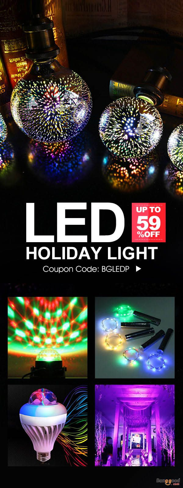 LED Holiday Light Promotion! Start From $2.49, up to 59% OFF. Directly fall, New arrival, Stage Lights, Holiday Lights, etc. The coupon code can give you a discount. Shop with fun!