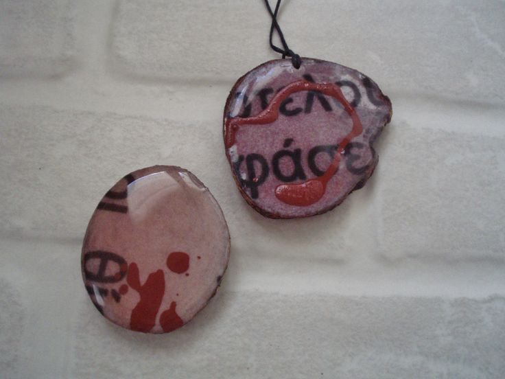 #springtime.. pendants by Artepovera h.j playing with letters and words