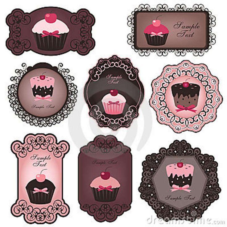 Cupcake Labels Royalty Free Stock Photos - Image: 16757028