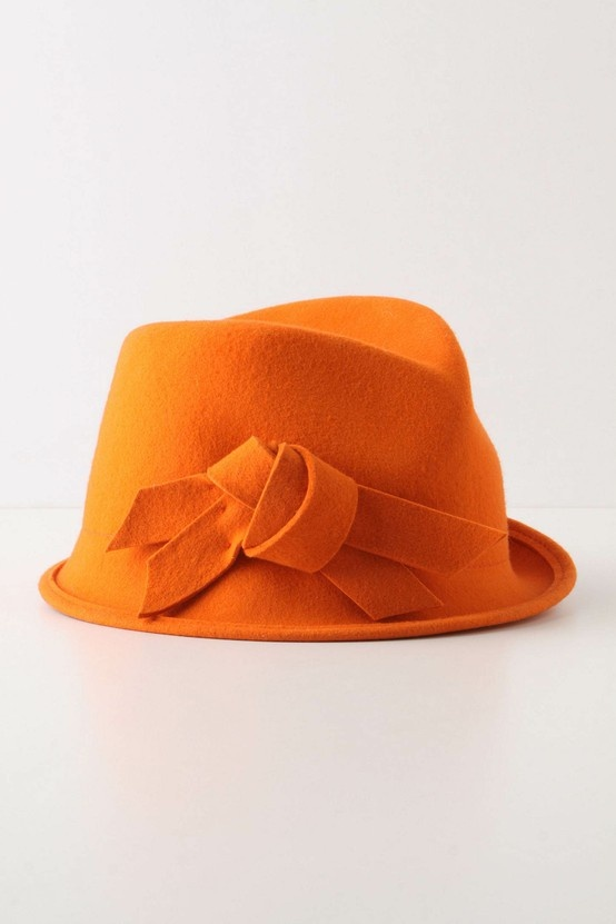 Orange Orange Orange! #chapeau (this just can't be called a hat)
