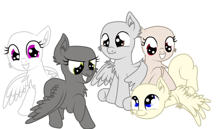 MLP:+Base+Pegasus+by+TalinTheKiller.deviantart.com+on+@DeviantArt