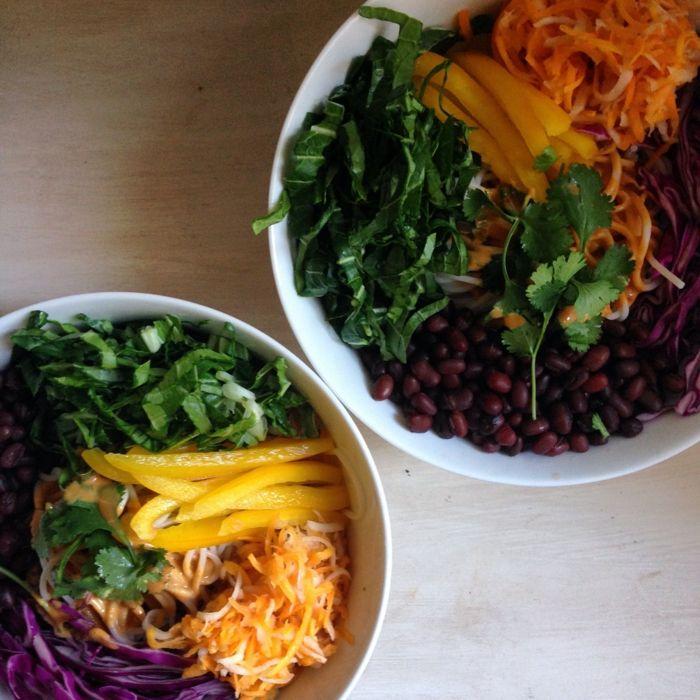 Makrobiotische Ernährung salat bunt