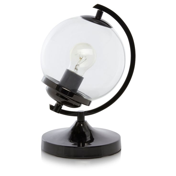 George Home Glass Globe Lamp | Table Lamps | ASDA direct - Best 25+ Globe Lamps Ideas On Pinterest Globes, Global Map And