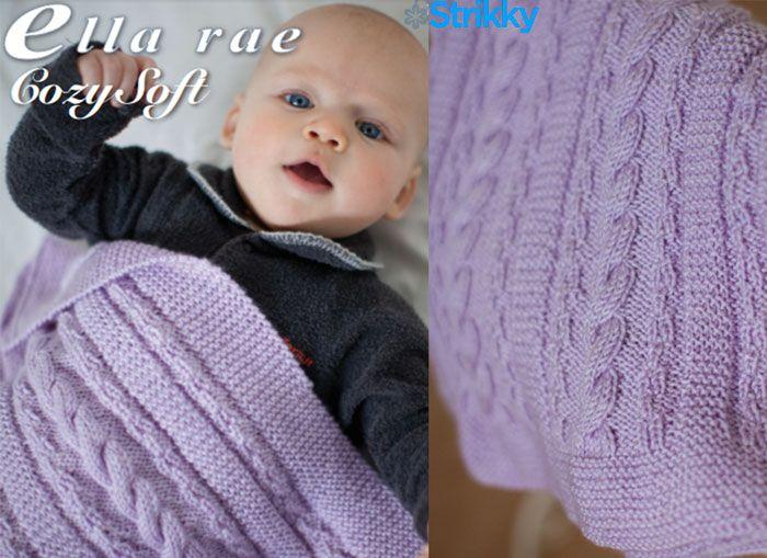 Тепло, чисто и мягко. Приступим к простому описанию детского пледа от Ella Rae с узорами из жгутов и платочной вязки спицами.
