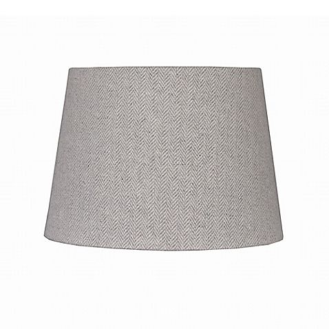 The Mix & Match Collection lets you transform the look and feel of your space with the simple switch of a shade. This elegant 7-Inch Herringbone Hardback Drum Lamp Shade has a simple yet chic look that works with modern or traditional lamp bases.
