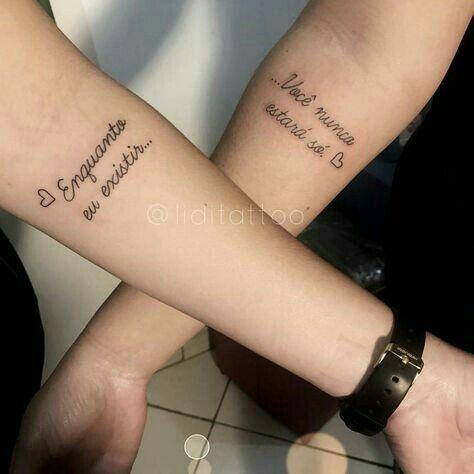 Frases para tatuagem – 80 tattoos diferentes e citações para inspirar – Blog da Pajaris | Biquínis, Moda, Viagens… | Tatuagem casal, Tatuagem, Tatuagem de namorados