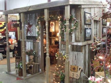 "Board ""Craft Show Displays"" by Susan McKeever has lots of ideas for various spaces you may show your wares  Homespun Blessings - a great primitive country store.  Love it!"