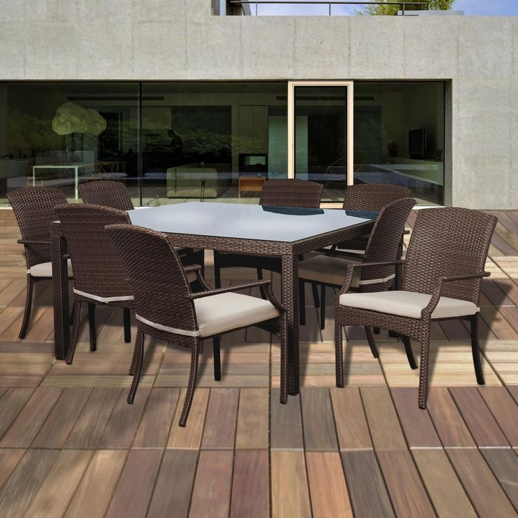 Designed Up To Date With The Most Modern Trends Confer Style, Comfort And  Charm To. White CushionsWicker FurniturePvc Patio FurnitureBackyard ...