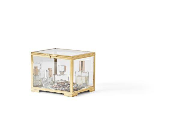 Bomarken Display Box Gold Colour Ikea Ireland In 2020