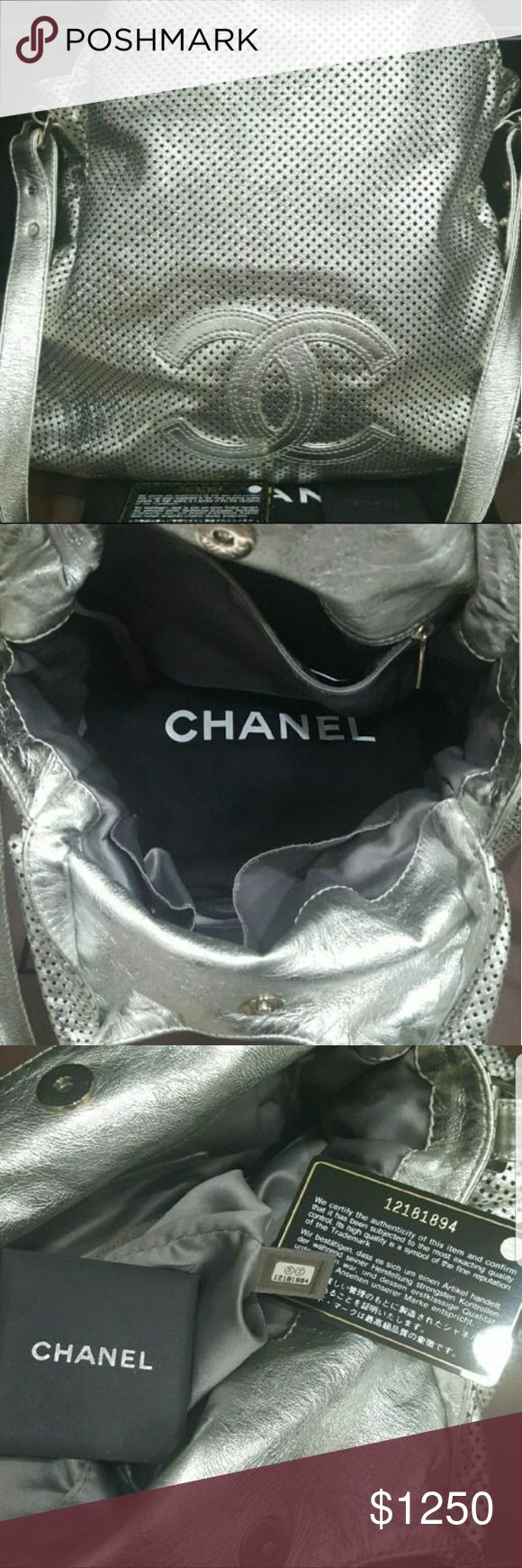 Authentic Chanel Rodeo Drive Silver Perforated Rare and a head turner! This is a collector's item. CHANEL Bags Shoulder Bags
