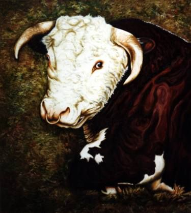 "Saatchi Art Artist Dan Civa; Painting, ""Hereford"" #art"