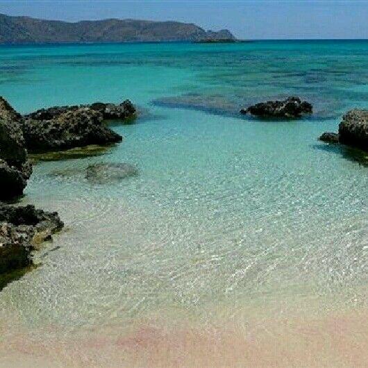 Elafonissi Beach in Chania of Crete