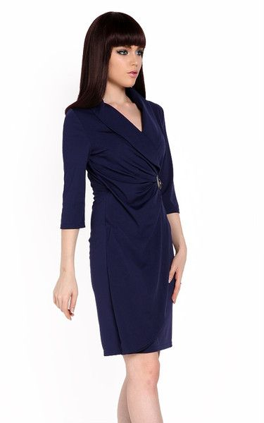 High Quality NEW Women Wrap Ruched Tunic Business Casual Cocktail Party Evening Pencil Dress