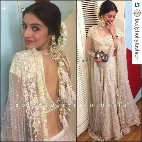 IT'S PG'LICIOUS — #Repost @bollyhollyfashion with @repostapp ・・・ @divyakhoslakumar in @sukritiandaakritiofficial outfit and @satyanifinejewels for Asin and Rahul Sharma's Wedding Reception  Styled by @anishagandhi3 and @rochelledsa  #DivyaKhoslaKumar #SukritiandAakriti #Bollywood #Fashion #CelebrityStyle #ARWedding #lehenga #whitelehenga