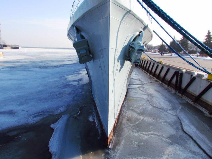 ORP Błyskawica - jeszcze lód na wodzie :)