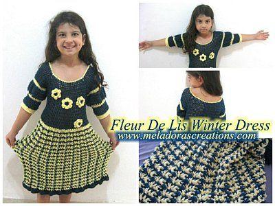 Fleur De Lis Winter Dress Combo WM 400