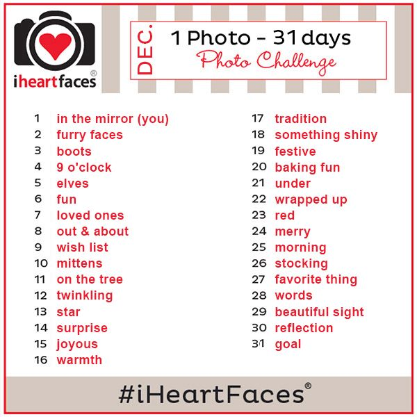 {1 Photo - 31 Days} December 2013 Photo Challenge on iHeartFaces.com