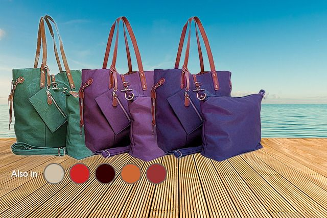 If the thought of a weekend away plunges you into mix-match luggage despair, look no further than today's 4-piece stylish tote bag set.