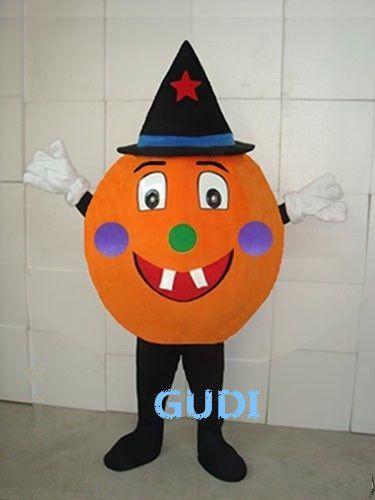 Hot sale! Pumpkin funny clown adult mascot costume party custom made