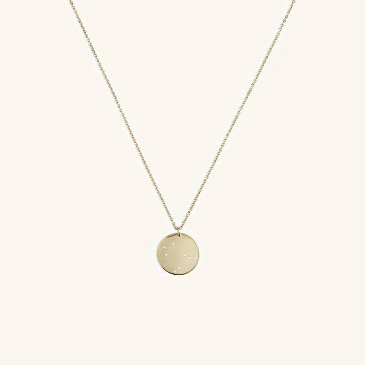 Trine Tuxen - Gemini Zodiac Necklace - gold
