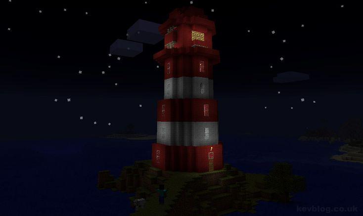 Minecraft Lighthouse Schematic I