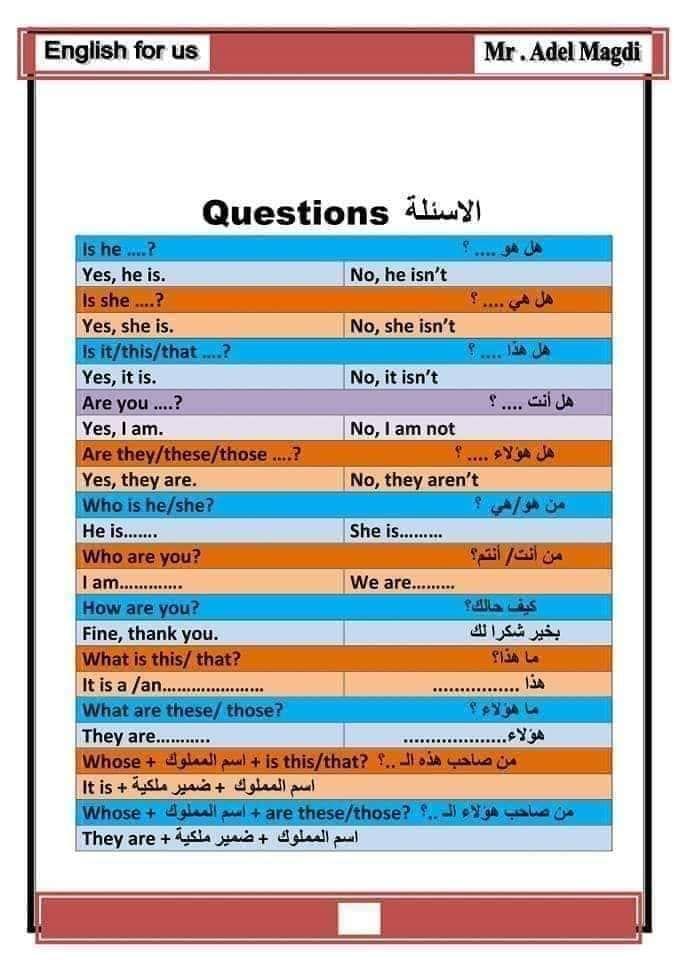 اساسيات اللغة الانجليزية سنة اولى متوسط Ency Education الموقع الاول للدراسة في الجزائر This Or That Questions Education English