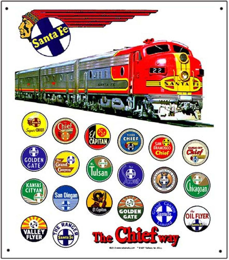 Santa Fe At Amp Sf Atchison Topeka Amp Santa Fe Train Logos