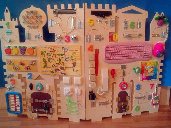 Giant busy board - 45 elements, sensory board, lock board, activity board, montessori toy, latch board, toddler toys, toddler gift