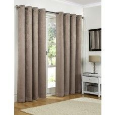 90x108in (228x274cm) Mink Brown Blackout Eyelet Curtains