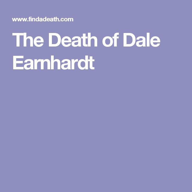 The Death of Dale Earnhardt
