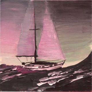 auf hoher See | on high seas acrylics on wood