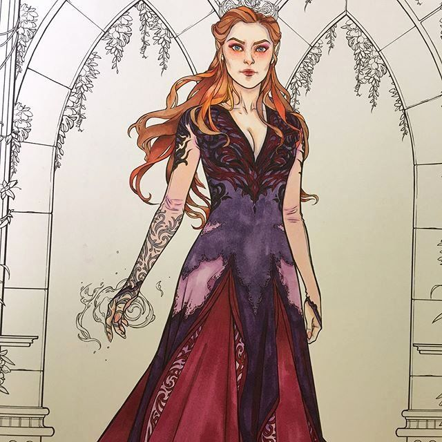 A Court Of Thorns And Roses Coloring Book Fresh Wip Of Feyre From