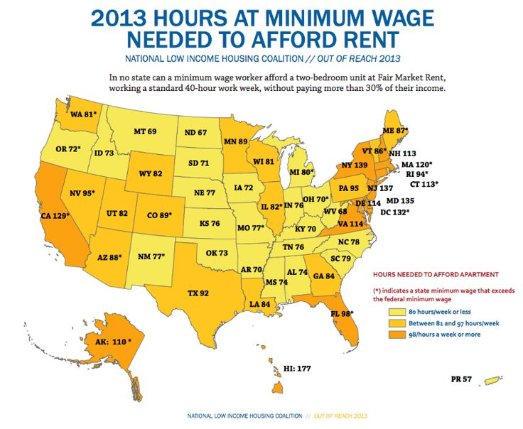 How Many Minimum Wage Hours Does It Take To Afford A Two-Bedroom Apartment In Your State? This is why we are close to being homeless...;(