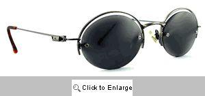 Saucer Floating Frame Sunglasses - 547 Silver