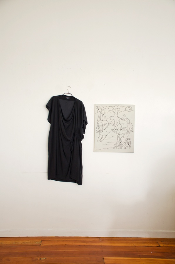 Parachute Dress with work by Ali McPherson