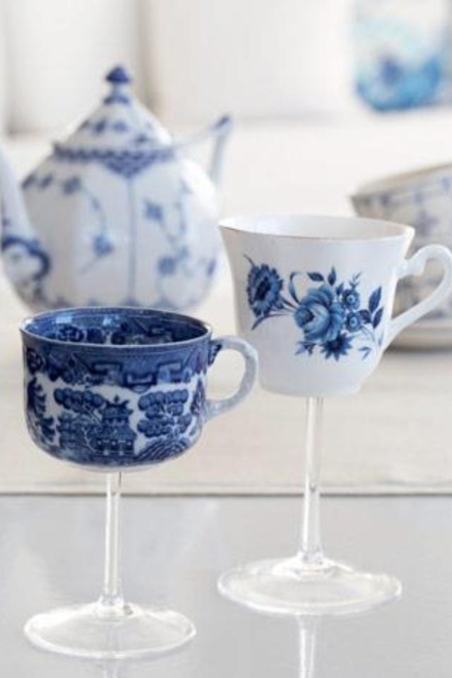 projects idea unique tea cups. tea party wine glass 301 best images on Pinterest  Tea time The hours and Teacups
