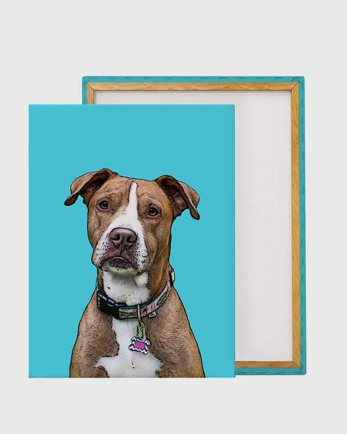 Order A Pet Pop Art Wrapped Canvas Of Your Dog Cat Or Other Pet It S As Easy As Selecting Your Pop Art Animals Custom Pet Art Personalized Pet Art