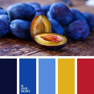 French Blue, Gold, Poppy