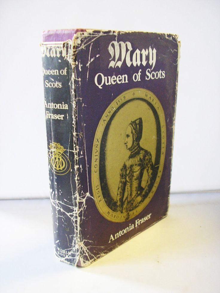 Vintage book Mary Queen of Scots Antonia Fraser 1970s hardback original dust jacket biography history book  scottish english royalty by TheIrishBarn on Etsy