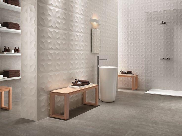 White-paste 3D Wall Cladding DIAMOND White-body wall tiles Collection by Atlas Concorde